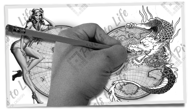 PixelstoLife - Featured Design - The World of Tattoos