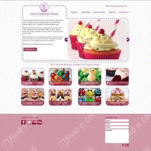 PixelstoLife - Baking Website Template Design
