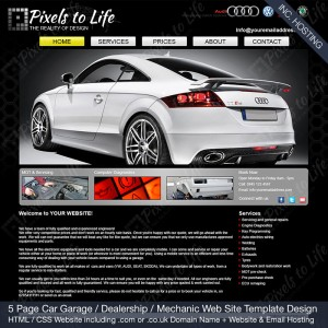 PixelstoLife - 5 Page Car Garage Web Site Template