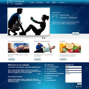 PixelstoLife - Personal Trainer Website Template Design