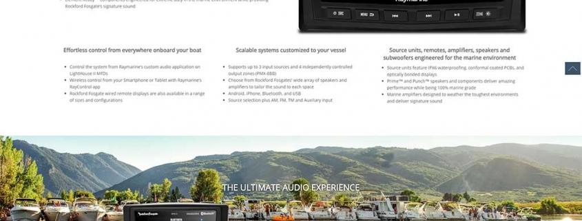Raymarine Marine Audio product range.